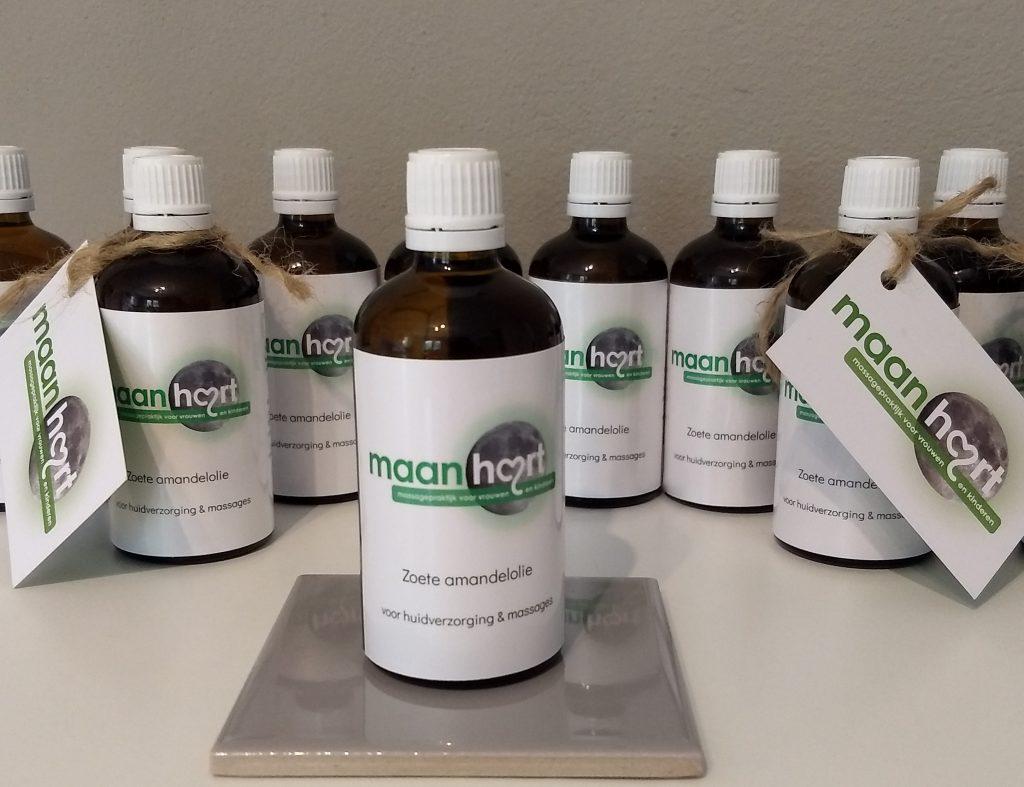 Maanhart amandelolie voor huidverzorging en massages thuis